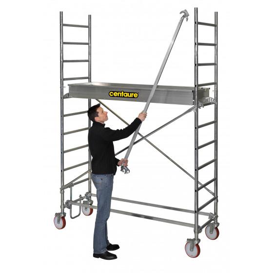 CENTAURE - Echafaudage aluminium roulant STI 5, plancher jusqu'à 4m80 - 414805