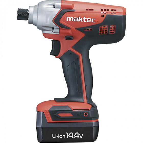 Visseuse à chocs L1451 Hex. 1/4'' 130 Nm MAKTEC + 2  batteries + coffret - MT690E