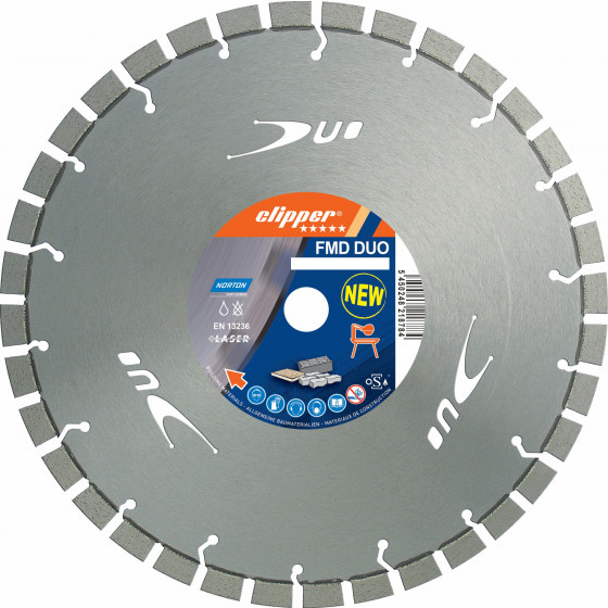 Disque diamant NORTON FMD DUO Ø 450 mm Alésage 25.4 mm - 70184611439