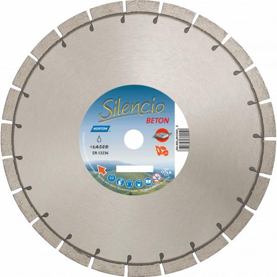 Disque diamant NORTON Silencio Ø 450mm Alésage 25.4 mm- 70184631020