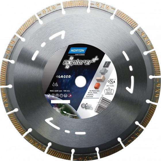 Disque diamant NORTON 4*4 EXPLORER + Multi Usage Ø 400 mm Alésage 25.4 - 70184647348