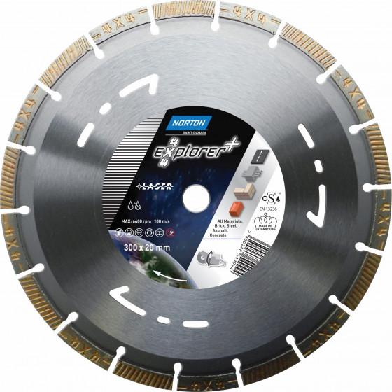 Disque diamant NORTON 4*4 EXPLORER + Multi Usage Ø 300 mm Alésage 20 - 70184646881
