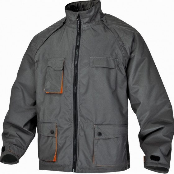 DELTA PLUS- NORTHWOOD BLOUSON MACH 2 POLYESTER ENDUIT PU - MANCHES AMOVIBLES Gris / Orange- NORTHGR0