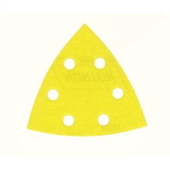 10 patins triangulaires abrasifs NORTON 6 trous Grain 80 - 66623379839