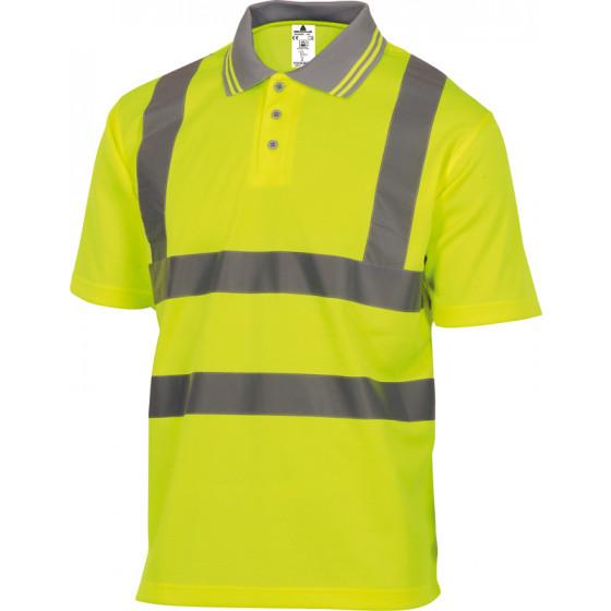 Polo polyester haute visisbilité jaune fluo DELTA PLUS - OFFSHJA0