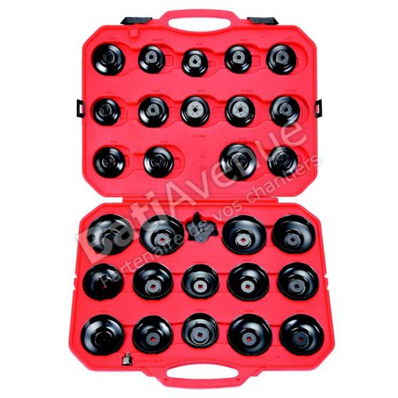 SAM OUTILLAGE-Clé en cloches pour filtres à huile : coffret de 30 outils -CPA-FIL