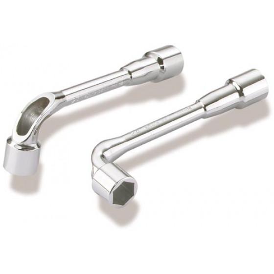 SAM OUTILLAGE-Jeu de 6 clés à pipe débouchées 6/6 pans satinée- 94-J6