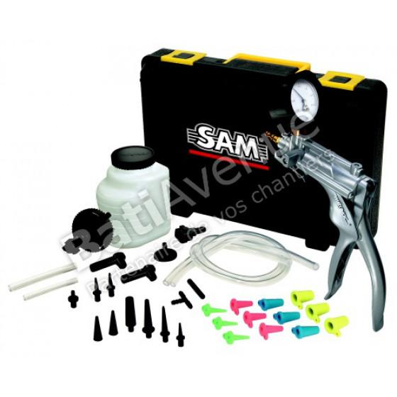 SAM OUTILLAGE-Pompe manuelle métallique à pression dépression version métallique avec kit complet -PPD-3