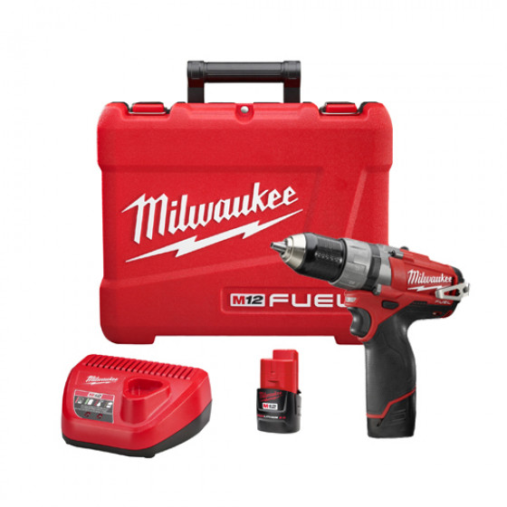 MILWAUKEE- M12 CDD 202C Visseuse / perceuse 12V  2,0Ah + 2 batteries + 1 chargeur + 1 coffret - 4933440390