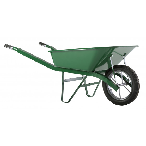 Brouette Haemmerlin Pro Select Bati Plus 100L Peinte Verte Roue Pleine -302334006