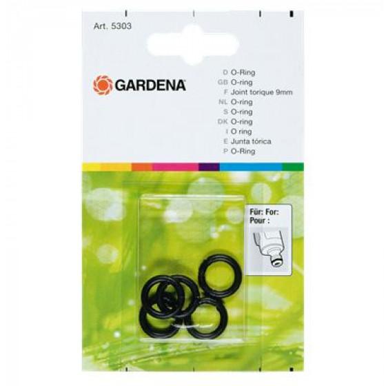 GARDENA- Joint torique, 9 mm. Contenu : 5 joints- 5303-20