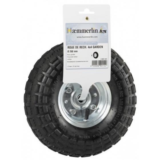 roue gonfl e de rechange pour chariot haemmerlin 4 4 garden 309011401 accessoires brouettes. Black Bedroom Furniture Sets. Home Design Ideas