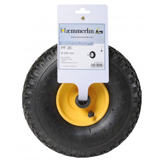 Roue Gonflée Haemmerlin PF 26  Ø 260 mm pour Diable - 309011901