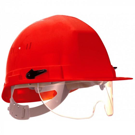 SOFOP TALIAPLAST-Casque polyéthylène à molette avec lunette intégrée Visiocéanic Rouge- 564826