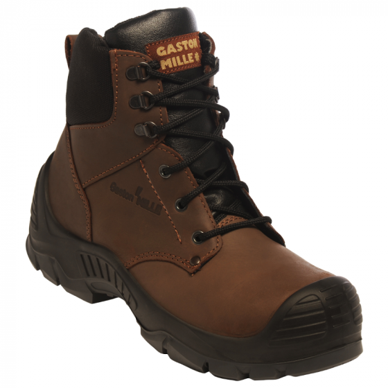 GASTON MILLE- CHAUSSURE DE SECURITE HAUTE MARRON UNION S3 HI CI SRC EN ISO 20345- ONTA30