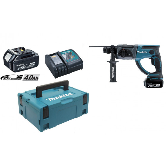 MAKITA  - Perfo-burineur SDS-Plus 18 V Li-Ion 4 Ah 20 mm en coffret MAK-PAC- DHR202RMJ