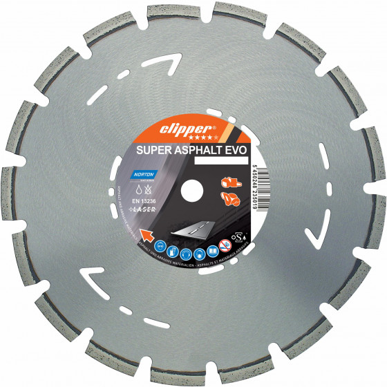 Disque diamant NORTON Super Asphalt Evo Ø 450 mm Alésage 25.4 - 70184623160