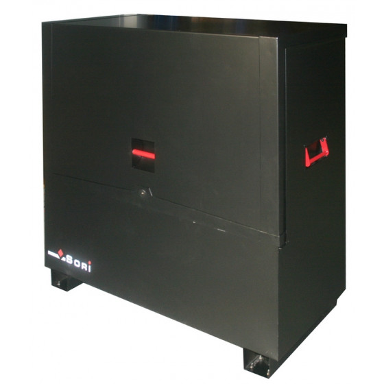 Coffre sécurisé noir avec pieds travaux public Dim.1140x600x1275 - TPS1165L