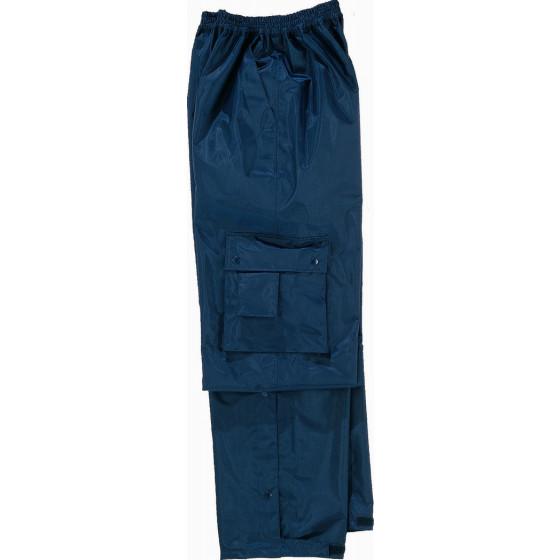 DELTA PLUS-TYPHOON  PANTALON POLYESTER ENDUIT PVC Bleu Marine -TYPHOBM0