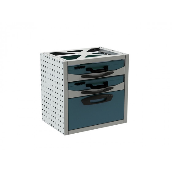 Kit 2 coffrets + 1 tiroir RUBI -VB54-2C1T