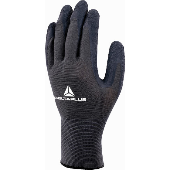 DELTA PLUS- GANT TRICOT POLYESTER - PAUME ENDUITE LATEX - VE630GR0