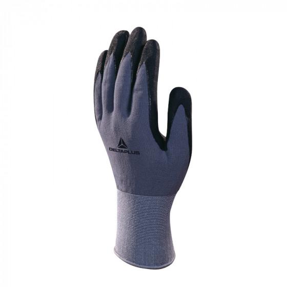 gant tricot polyamide spandex paume nitrile pu delta plus ve726no0 gants de travail par. Black Bedroom Furniture Sets. Home Design Ideas