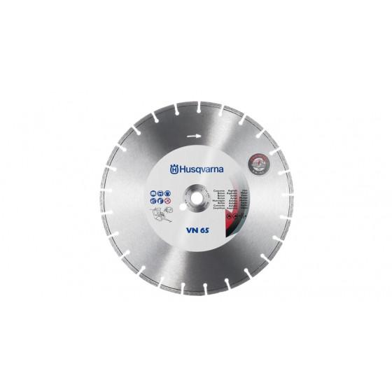 Disque diamant HUSQVARNA VN 65 Ø 230 AL 22,2 - Béton armé ou non, matériaux abrasifs, métal, fer à béton - 543084043