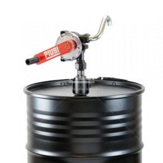 Pompe manuelle rotative pour gasoil et huile + tube plongeur + tuyau flexible de 3M + bec verseur avec bouchon- 08526