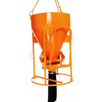 Benne à béton EICHINGER 1000 L à tuyau cylindro-conique à entonnoir-Mécanique avec volant-1016V12