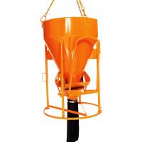 Benne à béton EICHINGER 250 L à tuyau cylindro-conique à entonnoir-Mécanique avec volant-1016V3