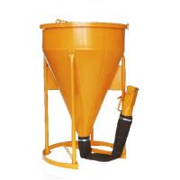 Benne à béton EICHINGER 600 L à tuyau fermeture par vanne -Mécanique sans volant-10179