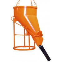 Benne à tuyau EICHINGER 1000 L vidage latéral raccord tuyau démontable-Mécanique avec volant-1023V12