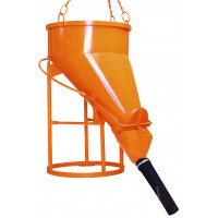 Benne à tuyau EICHINGER 1250 L vidage latéral raccord tuyau démontable-Mécanique avec volant-1023V13