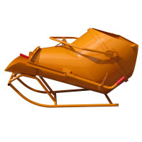 Benne à béton EICHINGER 600 L couchée à fond ouvrant à vidage latéral-Mécanique sans volant-10259
