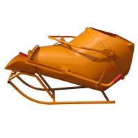 Benne à béton EICHINGER 3500 L couchée à fond ouvrant à vidage latéral-Mécanique avec volant-1025V19