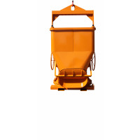 Benne à béton EICHINGER 500 L ouverture large droite vidage latéral-Mécanique avec volant-1028V8