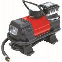 MINI COMPRESSEUR 12V + 3 ADAPTATEURS + LAMPE A LED- 11250