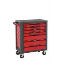 Servante d'atelier rouge 7 tiroirs SORI - 12700