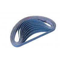 Paquet de 10 bandes abrasives 20x520 mm grain 60 SAM OUTILLAGE - 132060
