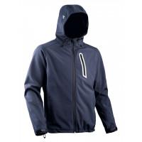Veste softshell DIADORA Bleu 3 poches avec Capuche SAIL - 15963260064