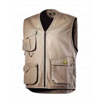 Gilet 3 poches Beige MOVER POLY DIADORA - 160302250700
