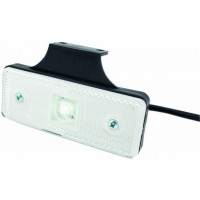 CATADIOPTRE RECTANGULAIRE BLANC 110X41 A LED SUR LANGUETTE SODISE-17931