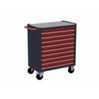 Servante d'atelier rouge 9 tiroirs RUBI- 7900