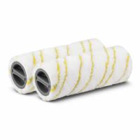 Set jaune de brosses-rouleaux en microfibres pour FC KARCHER ( 2 piéces ) -2.055-006.0