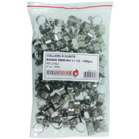 LOT 100X23482 COLLIER A DURITE BANDE 9MM W4 11-13MM SODISE-23482100