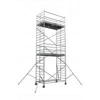 Echafaudages roulants DUARIB Aluminium DOCKER2 150 - LONGUEUR 2.54 m HAUTEUR PLANCHER 1.9 m -GC LISSES/SOUS LISSES- 254402