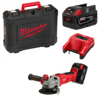 MILWAUKEE- Pack HD28-AG-125-32X Meuleuse Ø125mm 28V + 1 chargeur, 2 batteries, 1 coffret- 4933432235