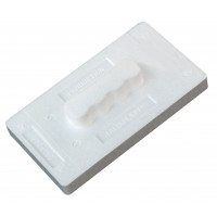 Taloche en polystyrène expansé 27 x 15 cm rectangle blanc SOFOP TALIAPLAST-300901