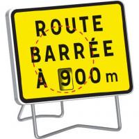 PANNEAU NADIA SIGNALISATION KC1 ROUTE BARREE 800X600 AVEC DISQUE - KC1RBD800X600CL1