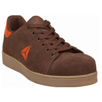 CHAUSSURES DE SECURITE BASSES CUIR CROUTE VELOURS DELTA PLUS SMASH MARRON S1P HRO SRC-SMASSSPMA
